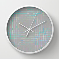 Re-Created SquaresXXX Wall Clock by Robert S. Lee
