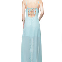 Off Duty Seafoam Maxi Dress