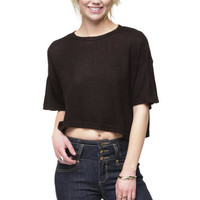 Free Range Black Crop Top