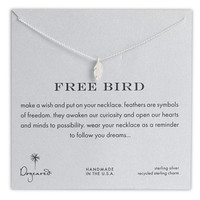 Dogeared 'Reminder - Free Bird' Boxed Feather Necklace