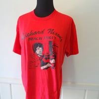 Vintage Richard Nixon's Beach Party T-Shirt 1980s