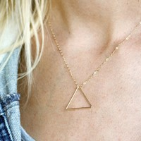 Triangle Necklace - $40