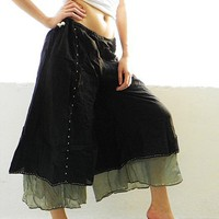 Black Pure Cotton Bohemian Fashion Artist Design by aloha2summer