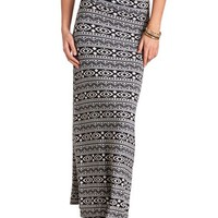 TRIBAL PRINT MAXI SKIRT