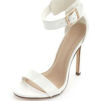 SINGLE STRAP & SINGLE SOLE PATENT HEELS