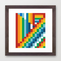 Fuzzline #4 Framed Art Print by Project M
