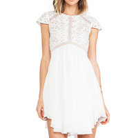 Lumier Heart of glass A-line Dress in White from REVOLVEclothing.com