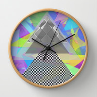 Geometric Mess Wall Clock by DuckyB (Brandi)