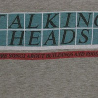 Original TALKING HEADS vintage 1978 promo TSHIRT