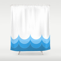 Rising Waters Shower Curtain by Pop E. Carp