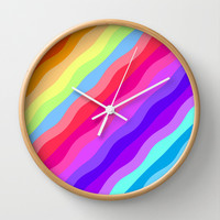 Rainbow Wall Clock by Ornaart