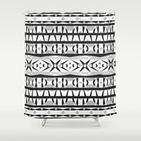 Mix #541 Shower Curtain by Ornaart