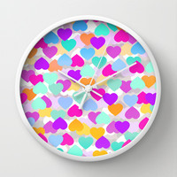 Hearts Wall Clock by Ornaart
