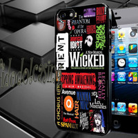 Broadway Musical Collage Case For iPhone 4/4s, iPhone 5/5S/5C, Samsung S3 i9300, Samsung S4 i9500 *rafidodolcasing*