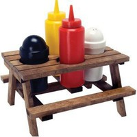 Dci Picnic Table Condiment Set, 5 Piece Set