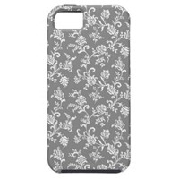 Gray Floral Pattern iPhone 5 Cover