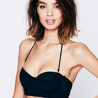 Free People Black Bustier Top