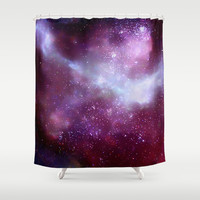 A Night Without Lights Shower Curtain by Nikki Neri