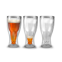 Get Hoppy Beer Glasses - Set of 2