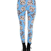 Blue Sky Kitty Leggings
