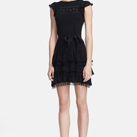 RED Valentino Ruffled Knit Dress | Nordstrom