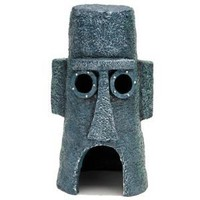 "SpongeBob SquarePants? 6.5"" Squidward? Easter Island Home Aquarium Ornament"