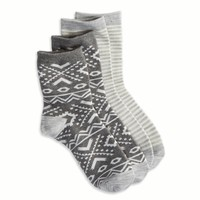AEO BRIGHT PRINT SOCK 2-PACK