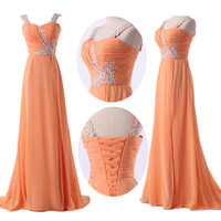 In Stock Women Evening Formal Party Gown Prom Bridesmaid Long Princess Dresses