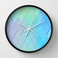 Re-Created Vertices No. 1 Wall Clock by Robert S. Lee