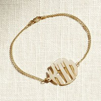 Initial Reaction Sans Serif Monogram Bracelet