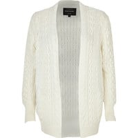 Cream cable knit cricket cardigan - cardigans - knitwear - women