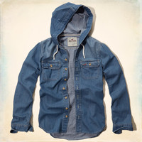 Leucadia Hooded Denim Shirt