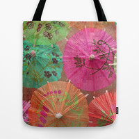 Parasols Tropical Punch Tote Bag by Lisa Argyropoulos