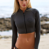 The Girl and The Water - Billabong - Peeky Cropped Jacket / Charcoal - $65