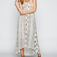 BILLABONG Designer's Closet Honey Sky Hi Low Maxi Dress