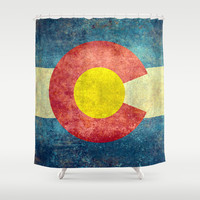 Colorado State Flag Shower Curtain by Bruce Stanfield
