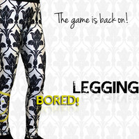 Special Sale** SHERLOCK BBC BORED! Smiley Wallpaper Leggings Fan Merch Awesome!