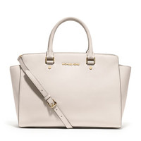 MICHAEL Michael Kors Large Selma Saffiano Top-Zip Satchel