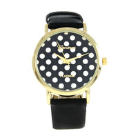 BLACK POLKA DOTS WATCH