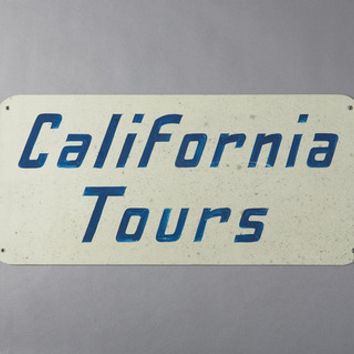 California Tours Metal Sign