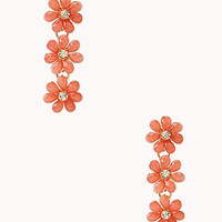Delicate Floral Drop Earrings