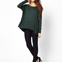 Vila Femme Lace Long Sleeve Oversize Top