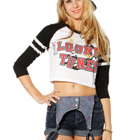 Papaya Clothing Online :: LOONEY TUNES GRAPHIC CROP TOP