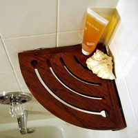 "Aqua Teak Spa Teak 10"" x 4.5"" Bathroom Shelf"