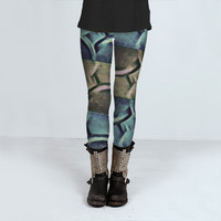Elegant Abstract Pattern by Daniel Ferreira-Leites (Leggings)