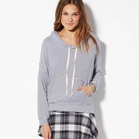 STRIPED HOODIE MADE IN ITALY BY AEO