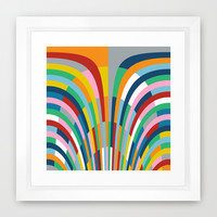 Rainbow Bricks Framed Art Print by Project M