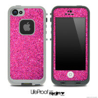 iPhone 5 life proof pink glitter case