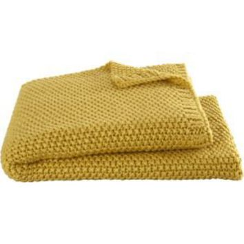 Hailey Mustard Throw Crate Barrel