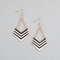 FULL TILT Chevron Drop Earrings